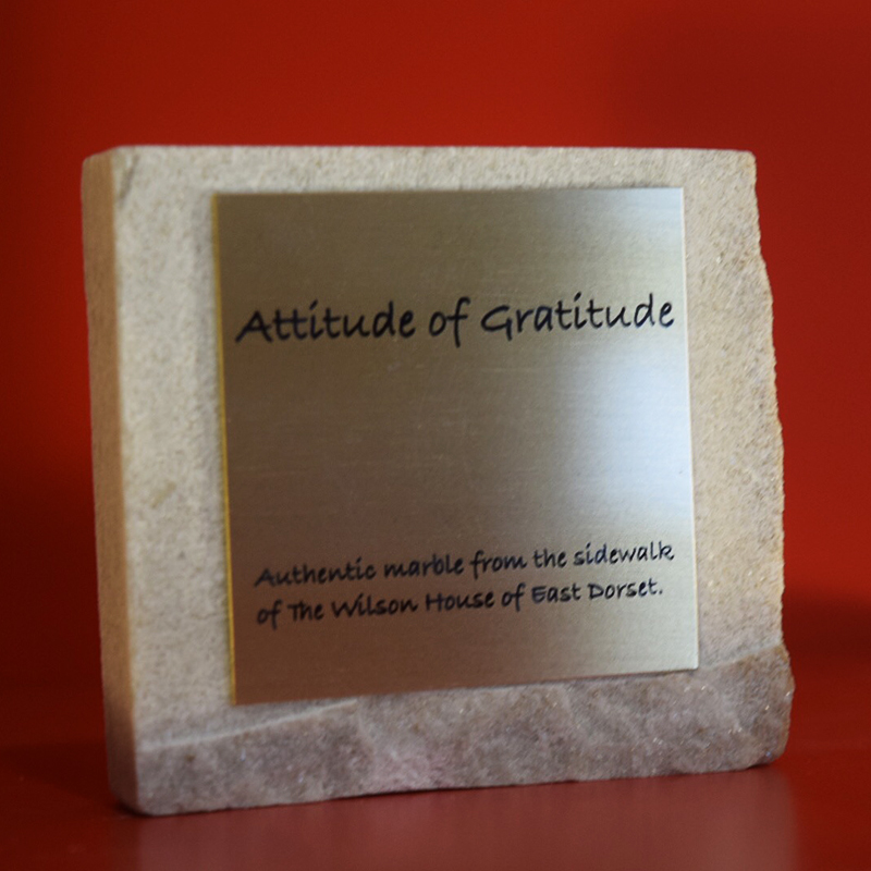 Marble Attitude of Gratitude Paperweight