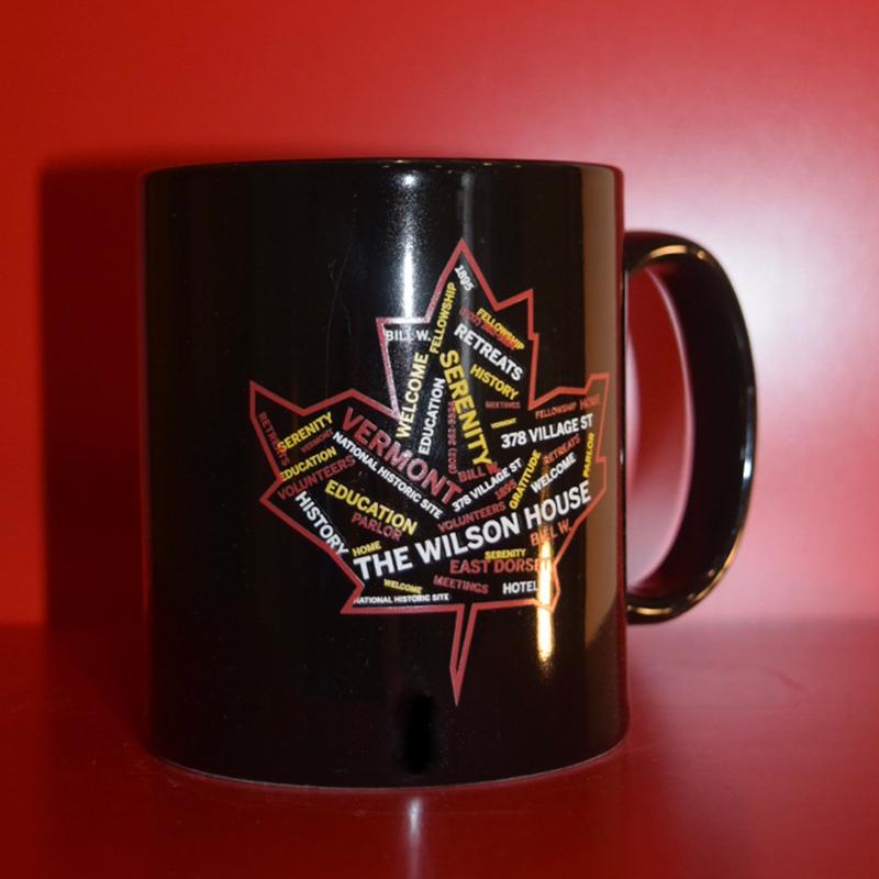 Coffee Mug with Maple Leaf